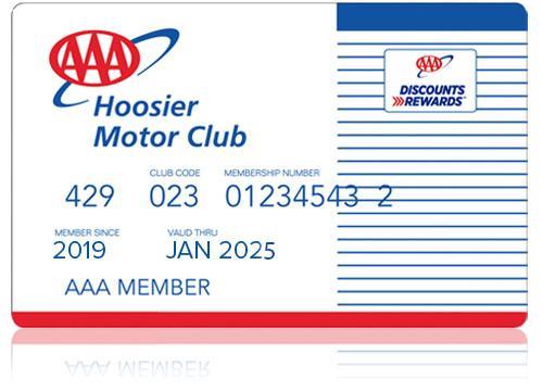 AAA memberhip card example