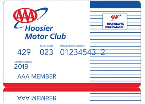 AAA Hoosier Membership Card