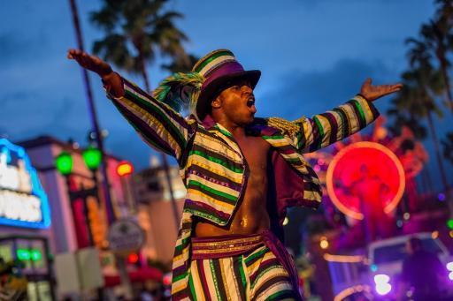 Mardi Gras entertainer