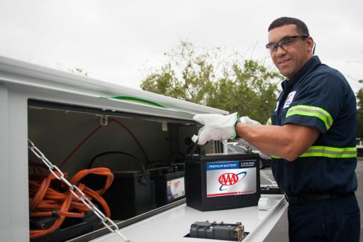 Mobile automotive battery service