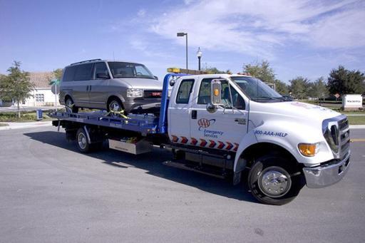 AAA roadside tow truck