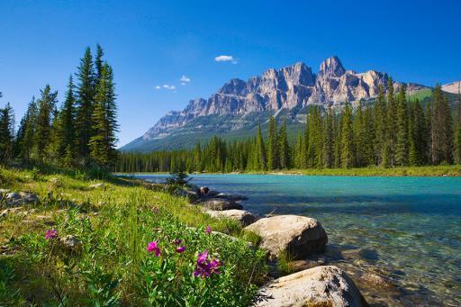 Banff scenic mountain view
