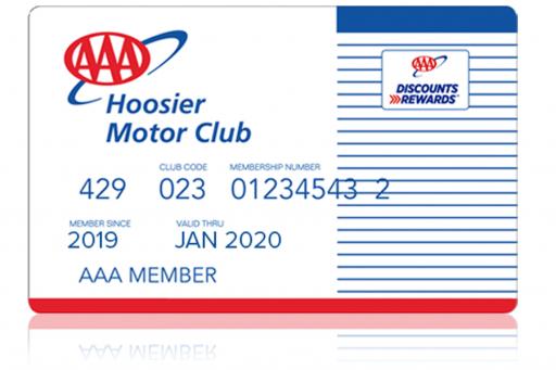 AAA Classic Hoosier Membership Card