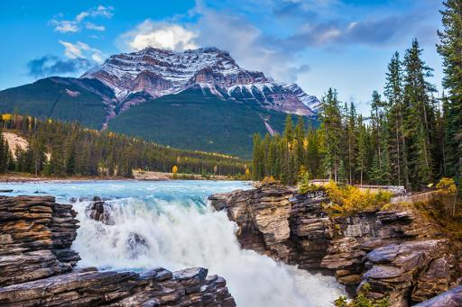 Jasper, BC scenic mountain view