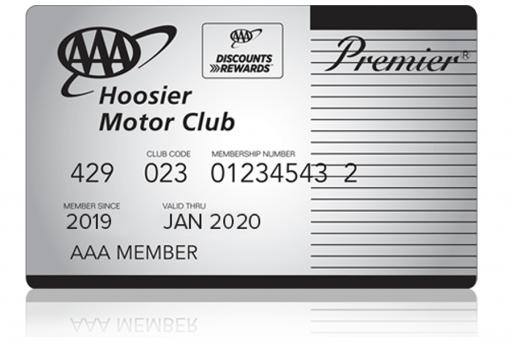 AAA Premier Hoosier Membership Card