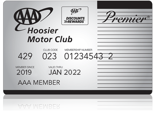 AAA Premier Hoosier Membership Card