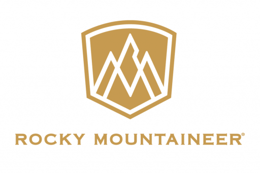 Rocky Mountaineer Logo in gold