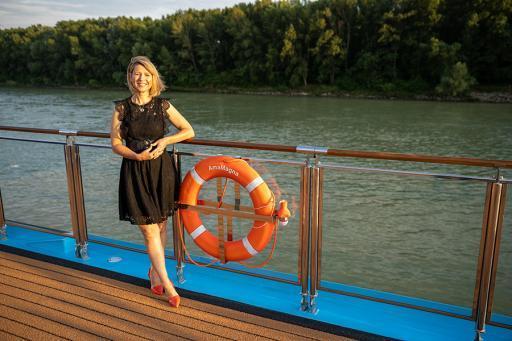 Samantha Brown photo on ship