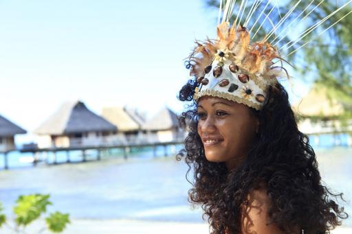 Tahiti beach dancer