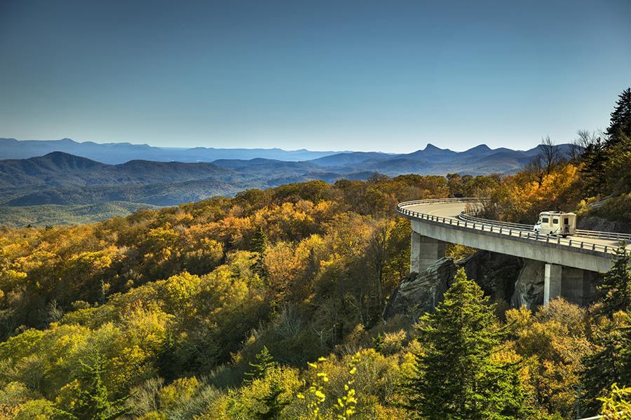 Great Smokey Mountains view with RV Travel